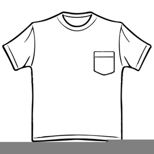 Clipart T Shirt Black White.