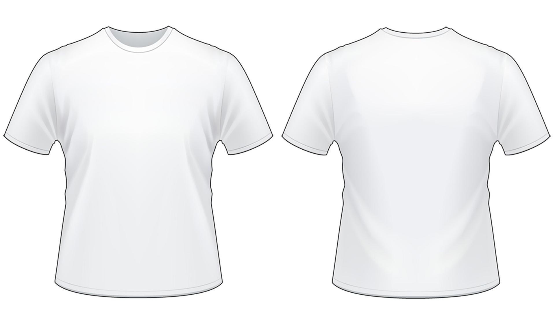 Blank Tshirt Template Worksheet in PNG.