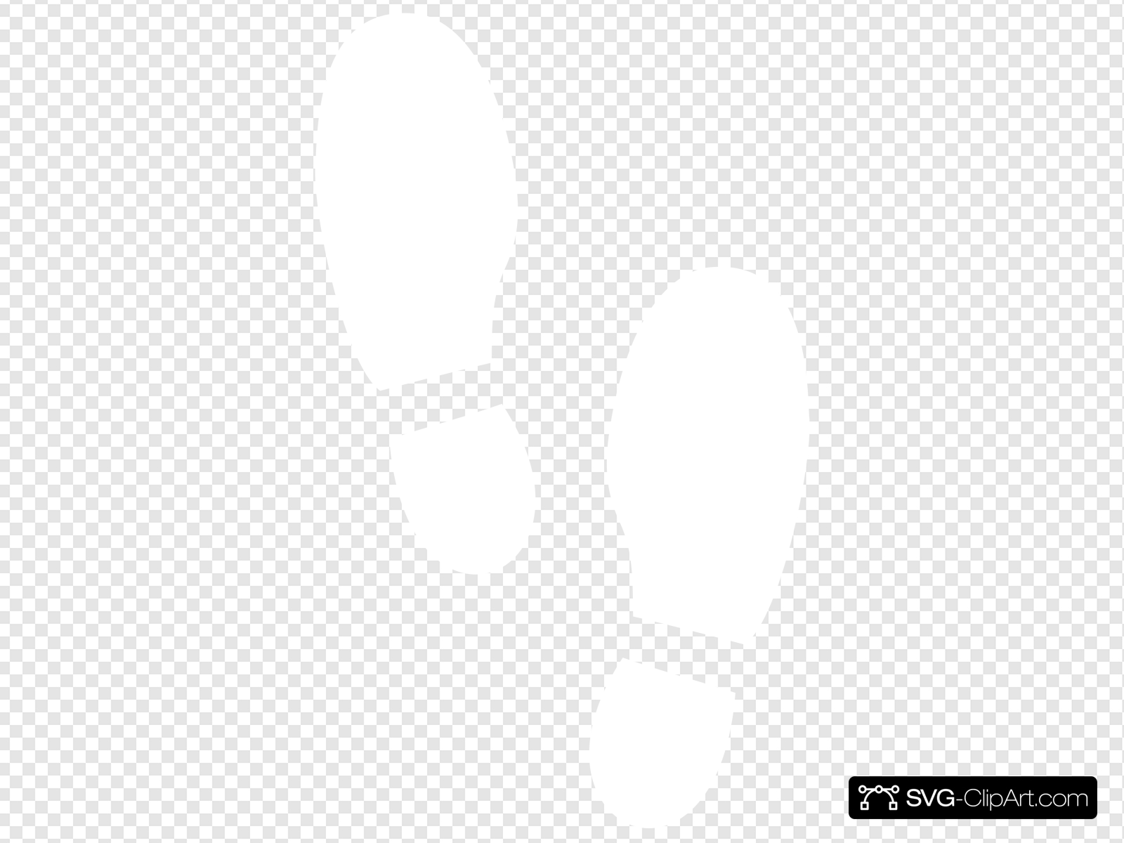 Shoe Print White Clip art, Icon and SVG.
