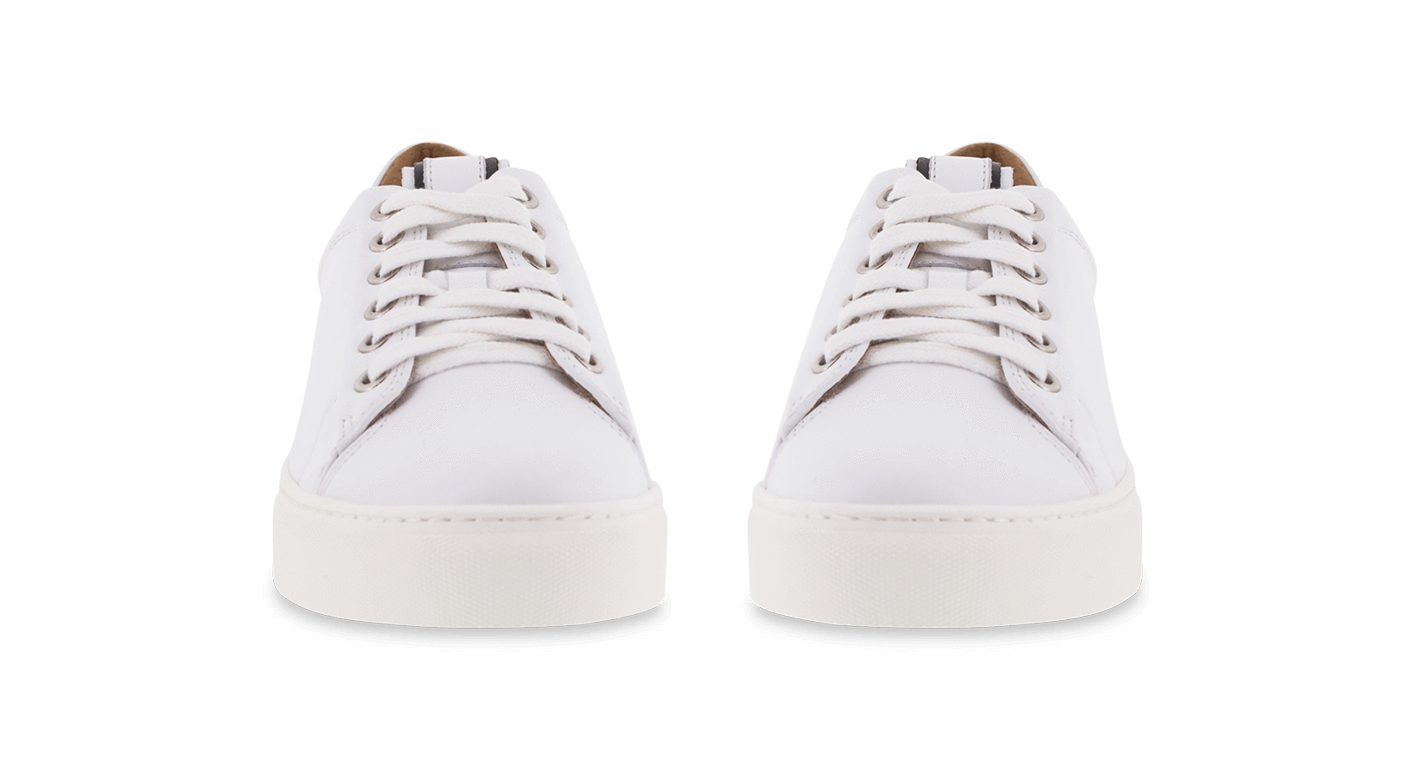 Roux White Casual Shoes.