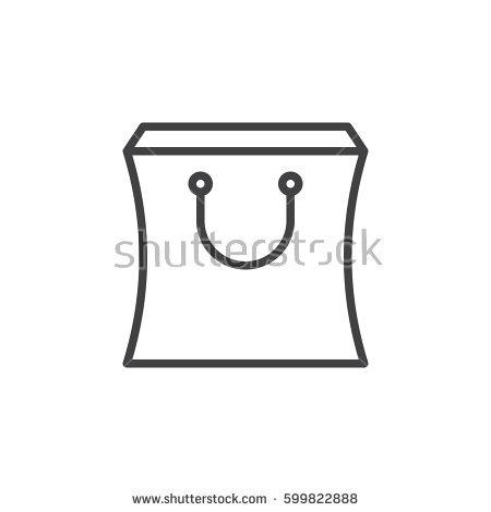 Shopping Bag Icon Stock Vector 204495526.