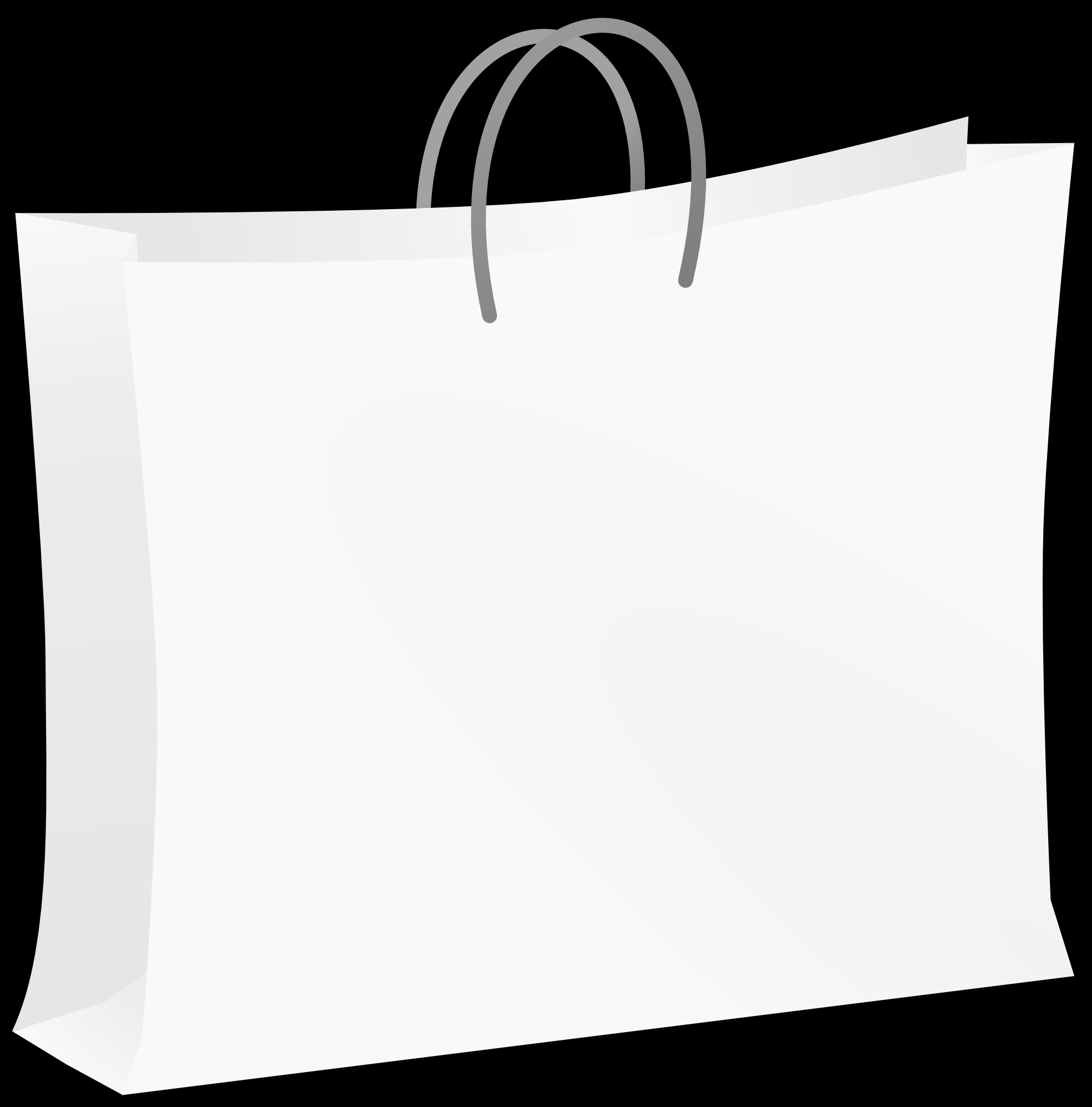 Shopping Bag Black And White Clipart#2005103.