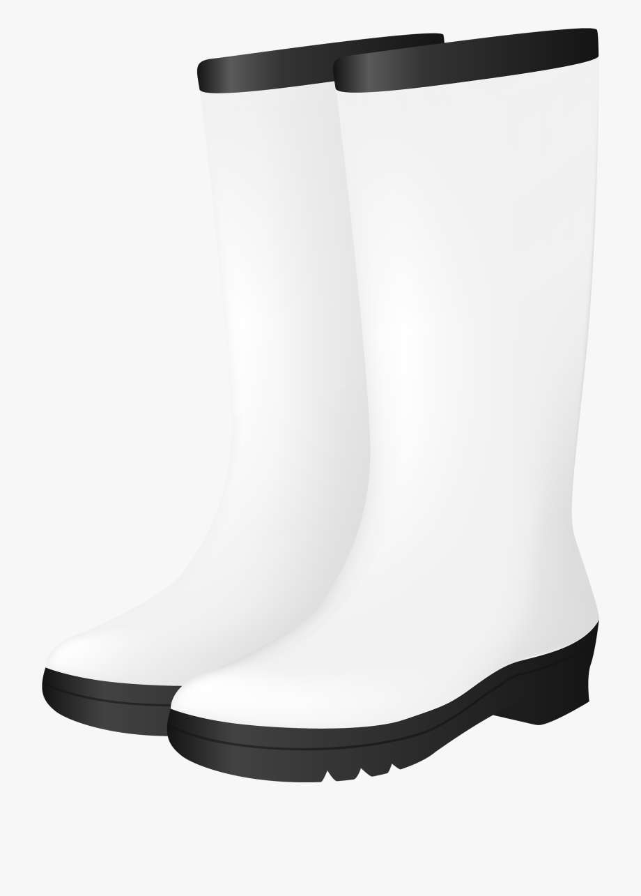 White Rubber Boots Png Clipart.