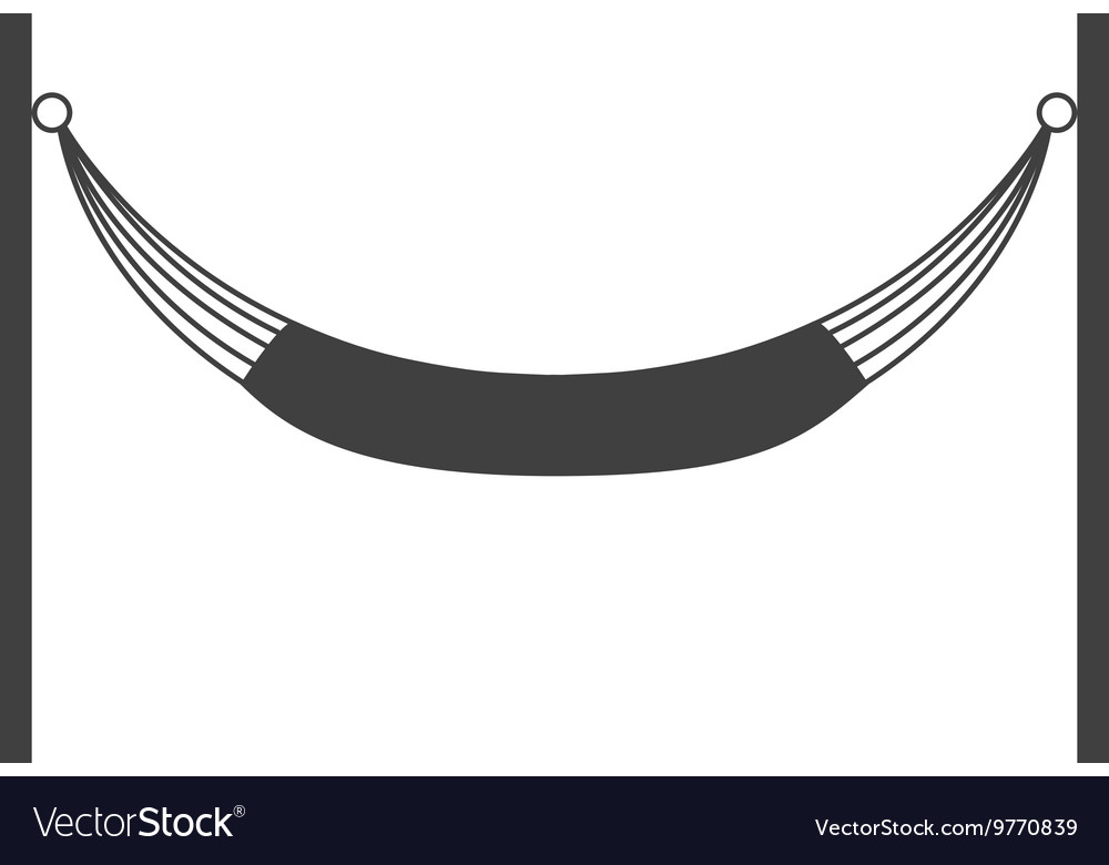 Hammock silhouette icon Resting and sleep design.