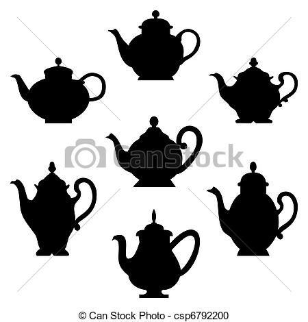 Vintage Teapot Clip Art.