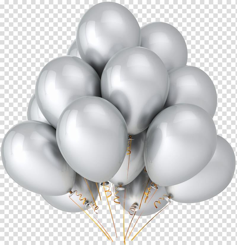 Balloon Party Metallic color Birthday Silver, Silver.