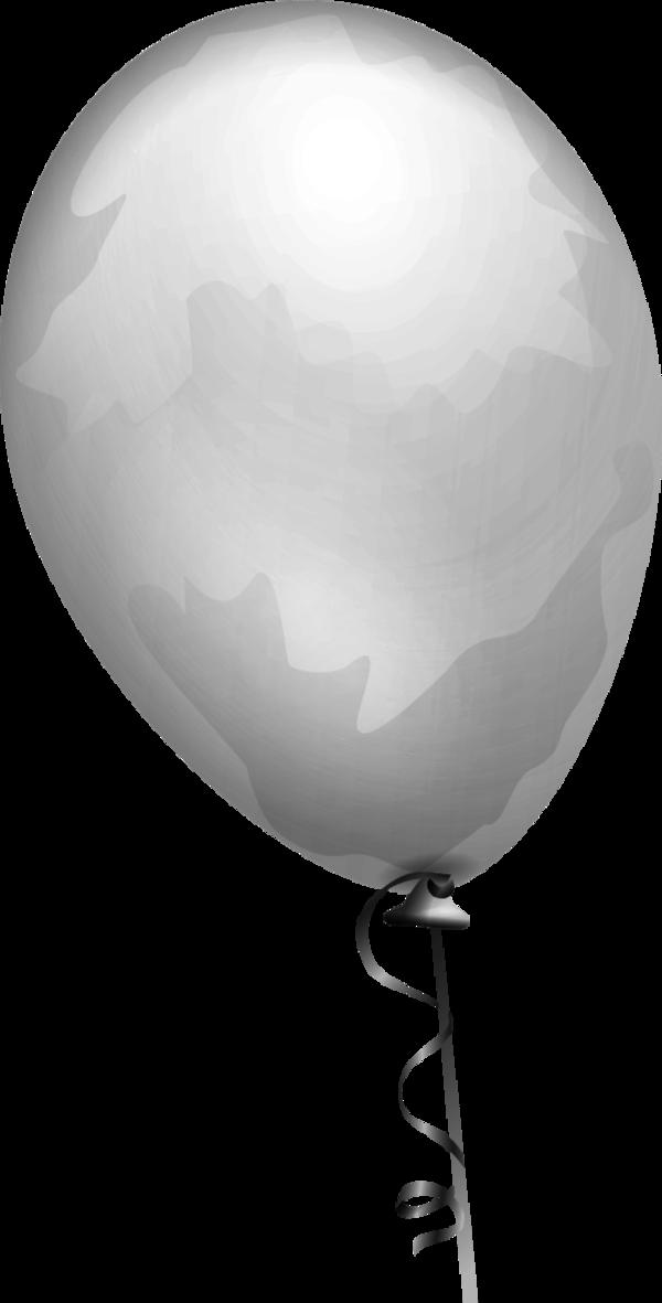 Gray Balloons Clipart.