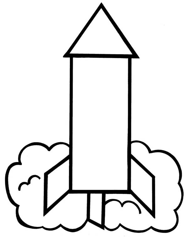 simple rocket picture to color: simple.