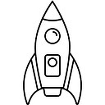 Simple Rocket Ship Clipart Black And White new transport.