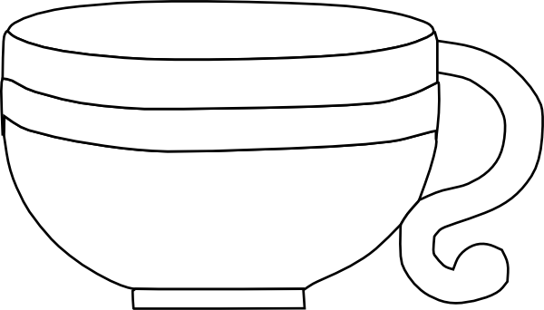 Black And White Cup Clip Art at Clker.