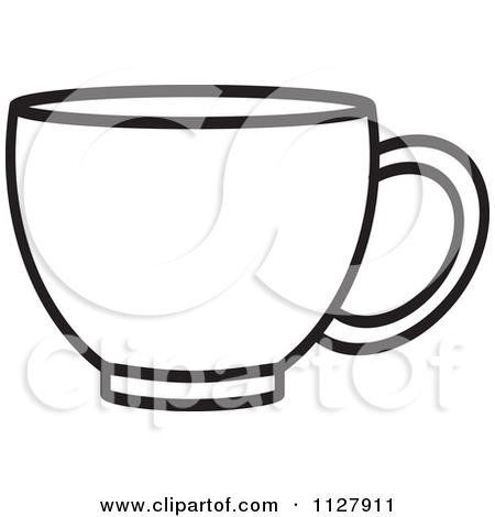 Cup Clipart Outline.