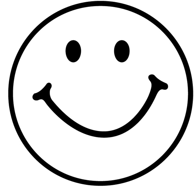 17+ Happy Face Clipart Black And White.