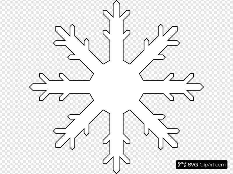 White Snow Flake Clip art, Icon and SVG.
