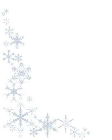 snowflake black and white border.