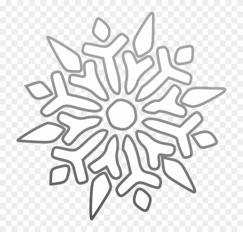 White snowflake clipart transparent background 3 » Clipart Portal.