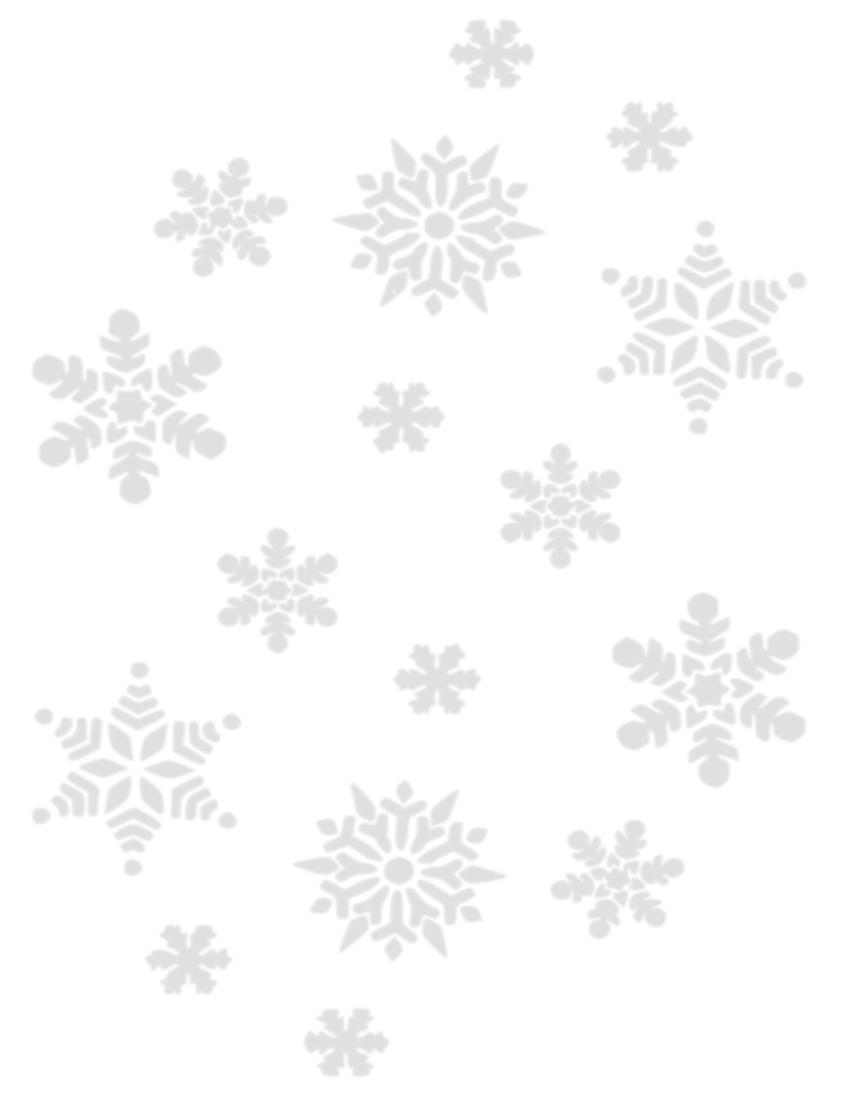 White Snowflake Clipart No Background.