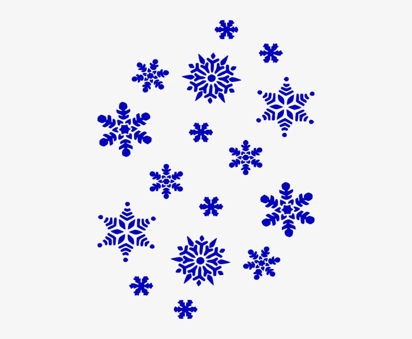 Clipart Snowflake Navy Blue.