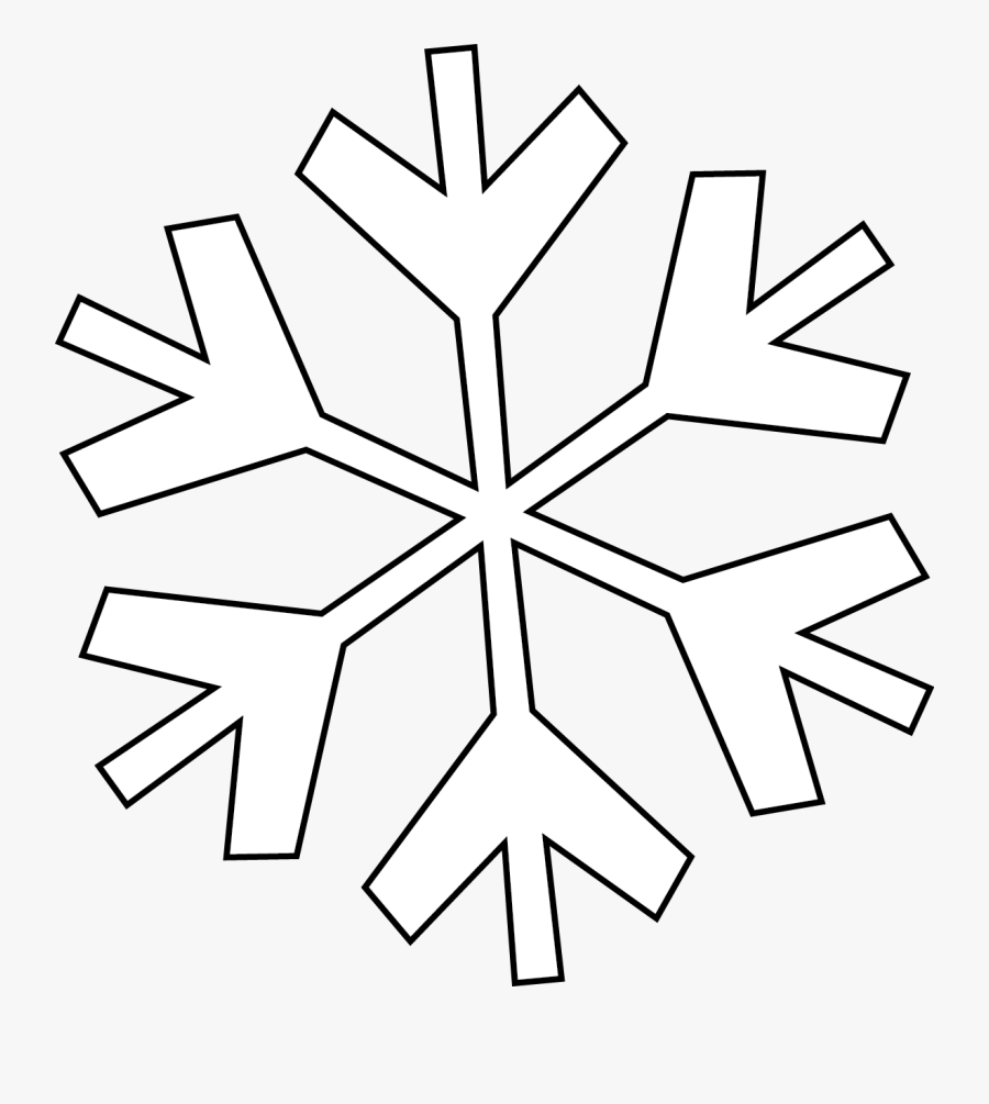 Snowflake Clipart Line Drawing.