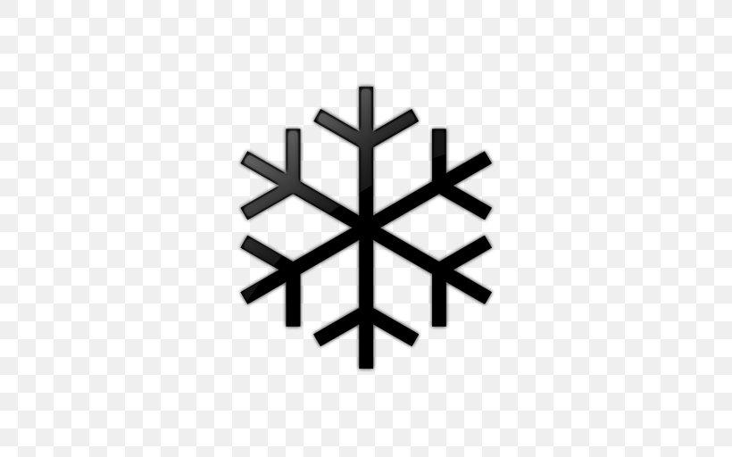 Snowflake Hexagon Clip Art, PNG, 512x512px, Snowflake, Black.