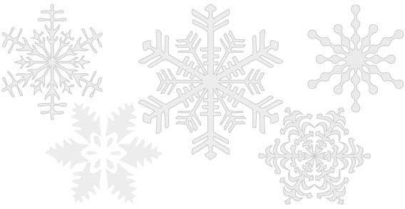 Free Vector Snowflake Clipart.