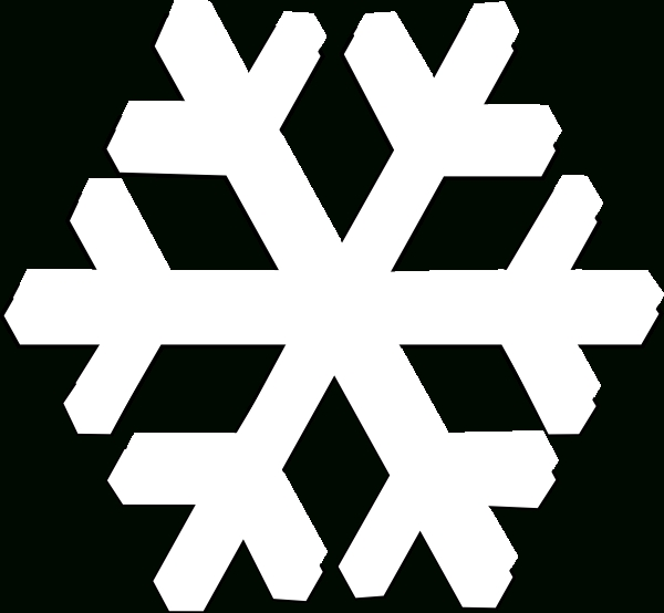 White Snowflake Transparent Background Clipart.