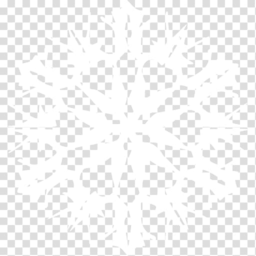 White flower illustration, White Snowflake transparent.