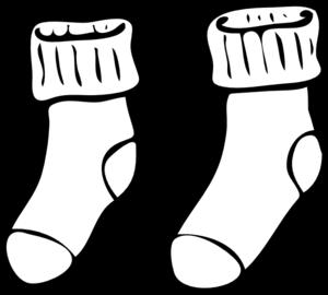 White Sock Clipart.
