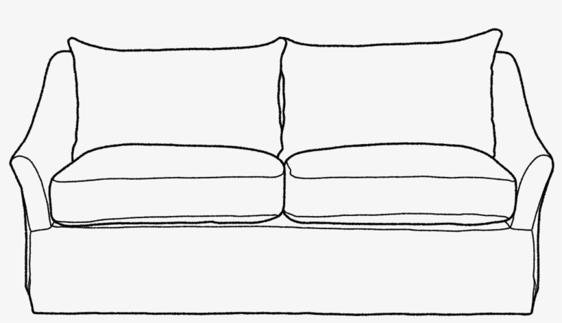 Couch Clipart Black And White.