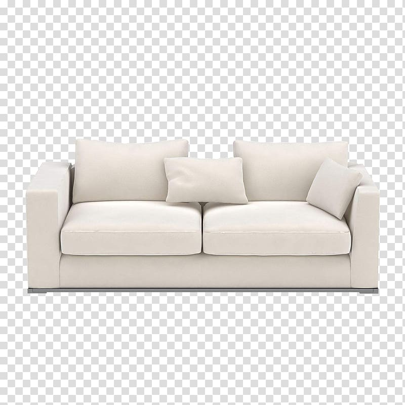 Sofa bed Couch Furniture Loveseat, White sofa transparent.