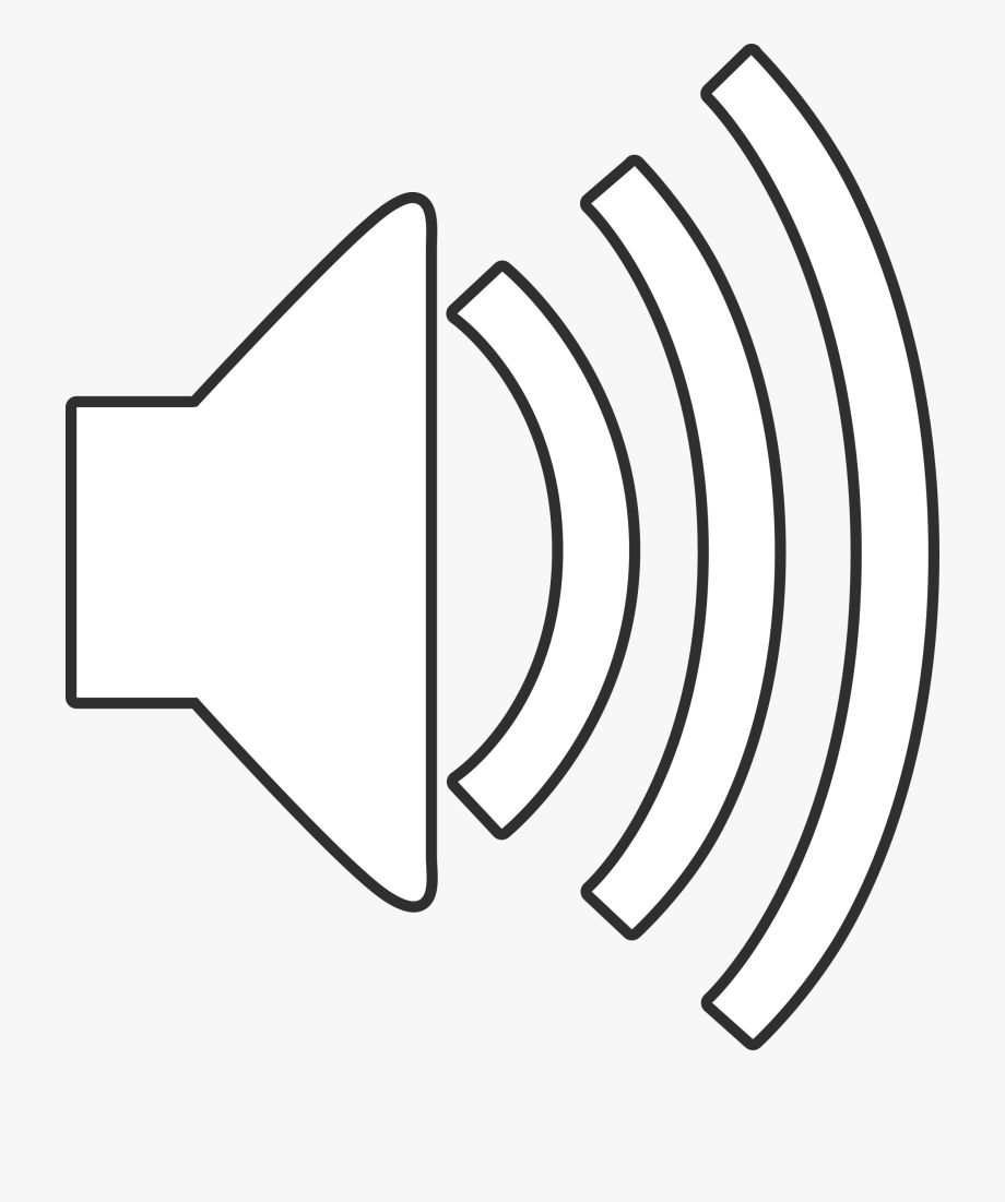 Speaker Clipart Audio Symbol.