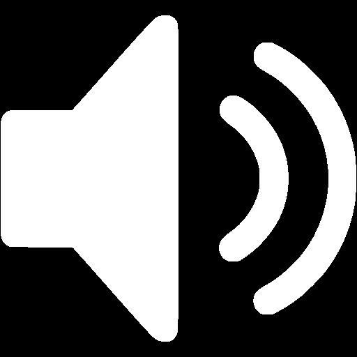 White speaker icon.