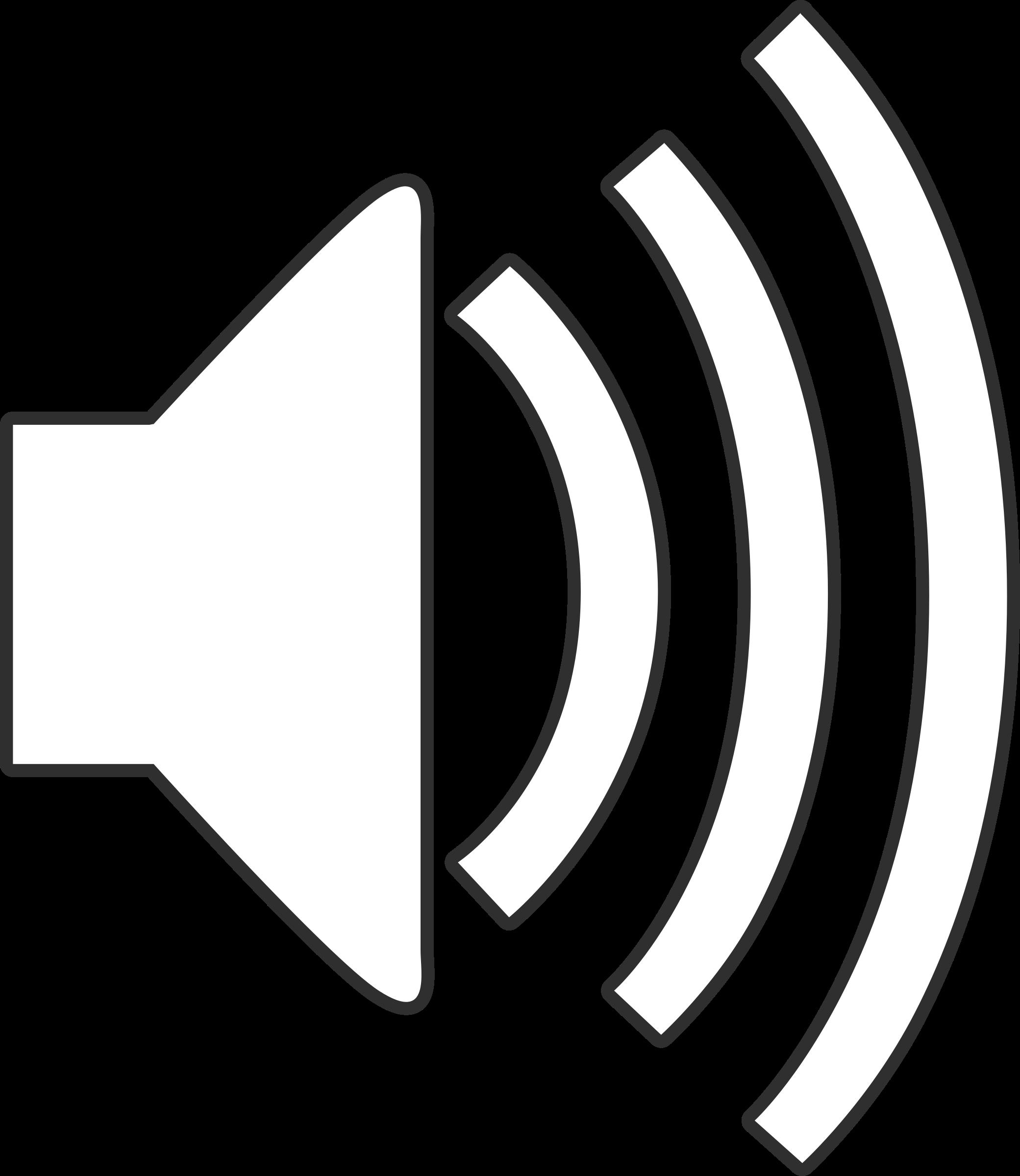 White Speaker Icon #192589.