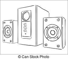 Speaker clipart black and white 4 » Clipart Station.