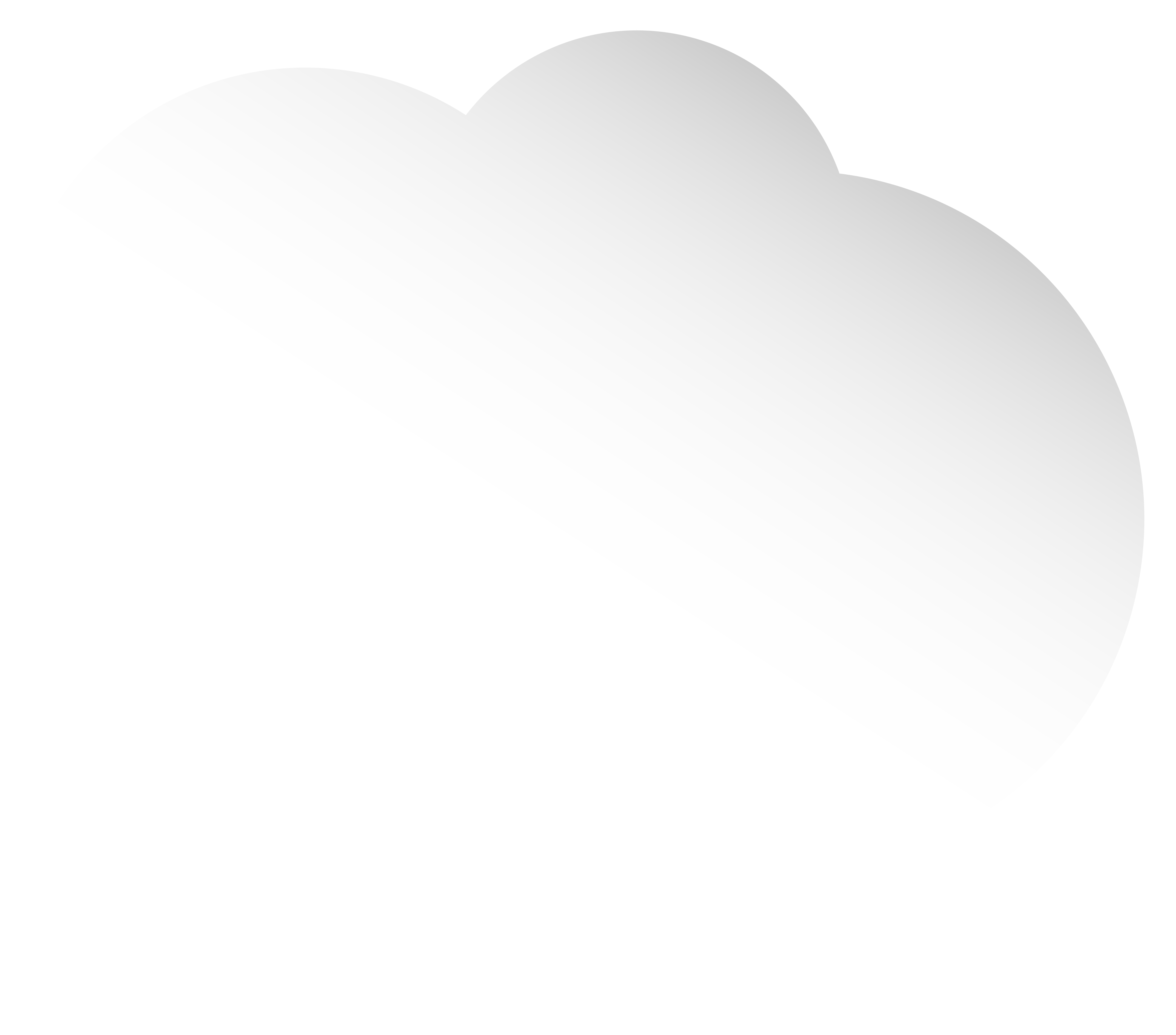 Cloud White Bubble Speech PNG Clip Art Image.