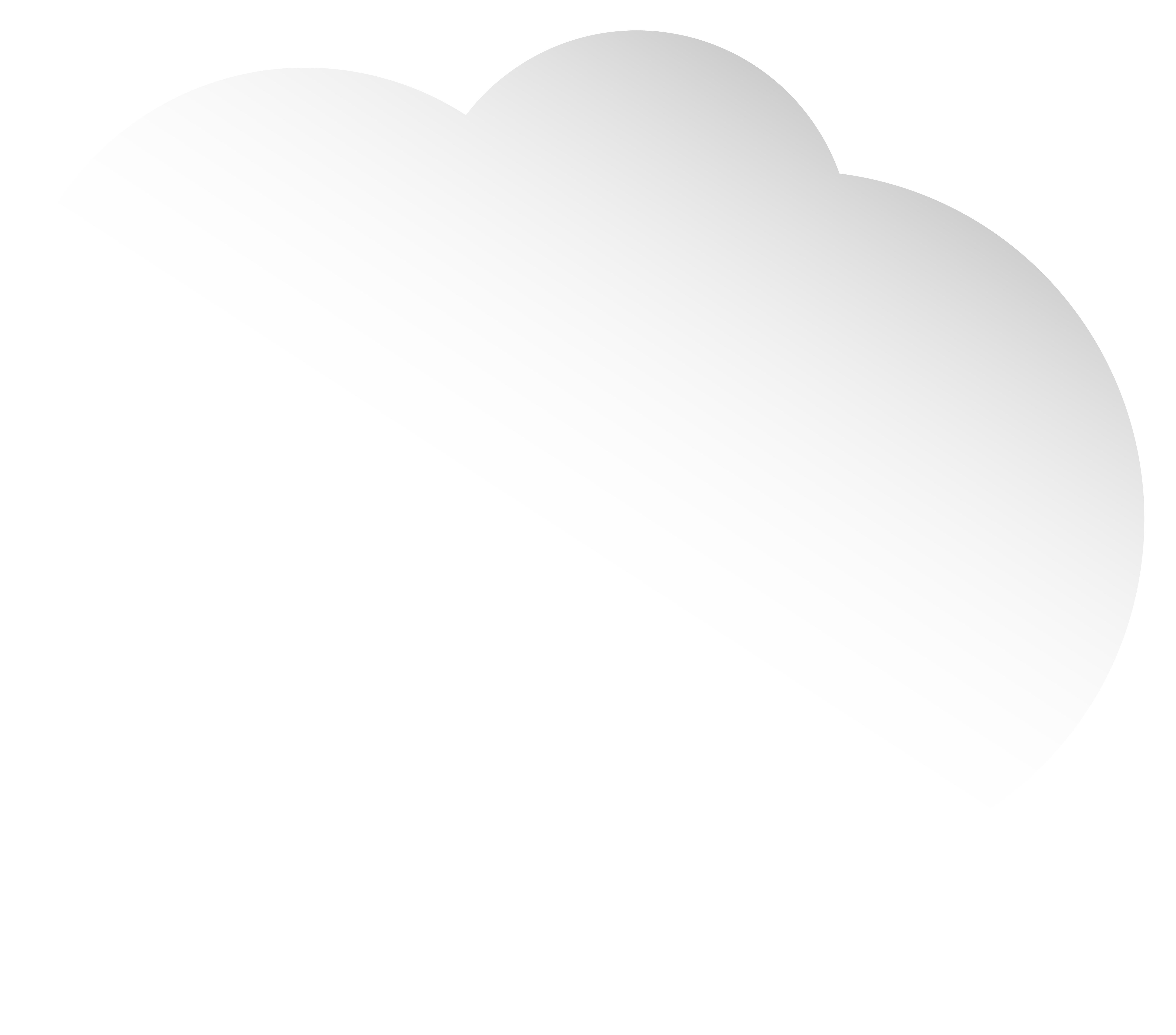 Cloud White Bubble Speech PNG Clip Art Image.