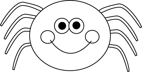 Black And White Spider Clipart.