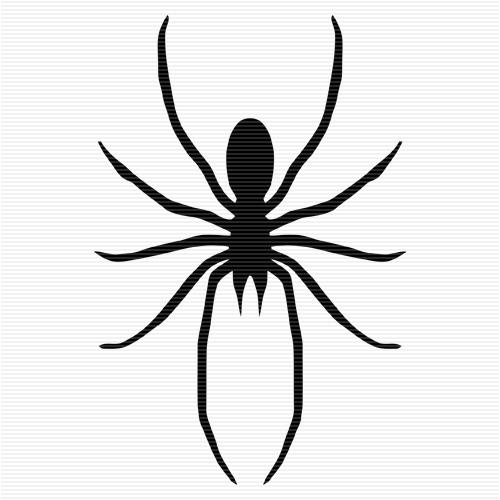 White Spider Clip Art.
