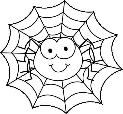 White Spider Web Clipart.