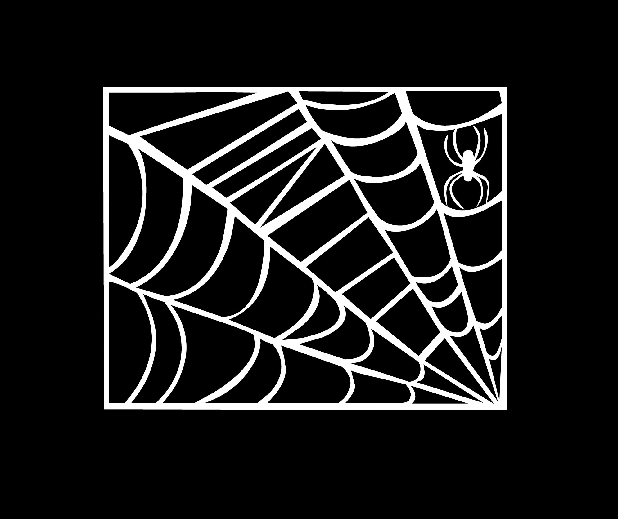 Image of clipart spider web.
