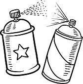 Spray Clip Art.