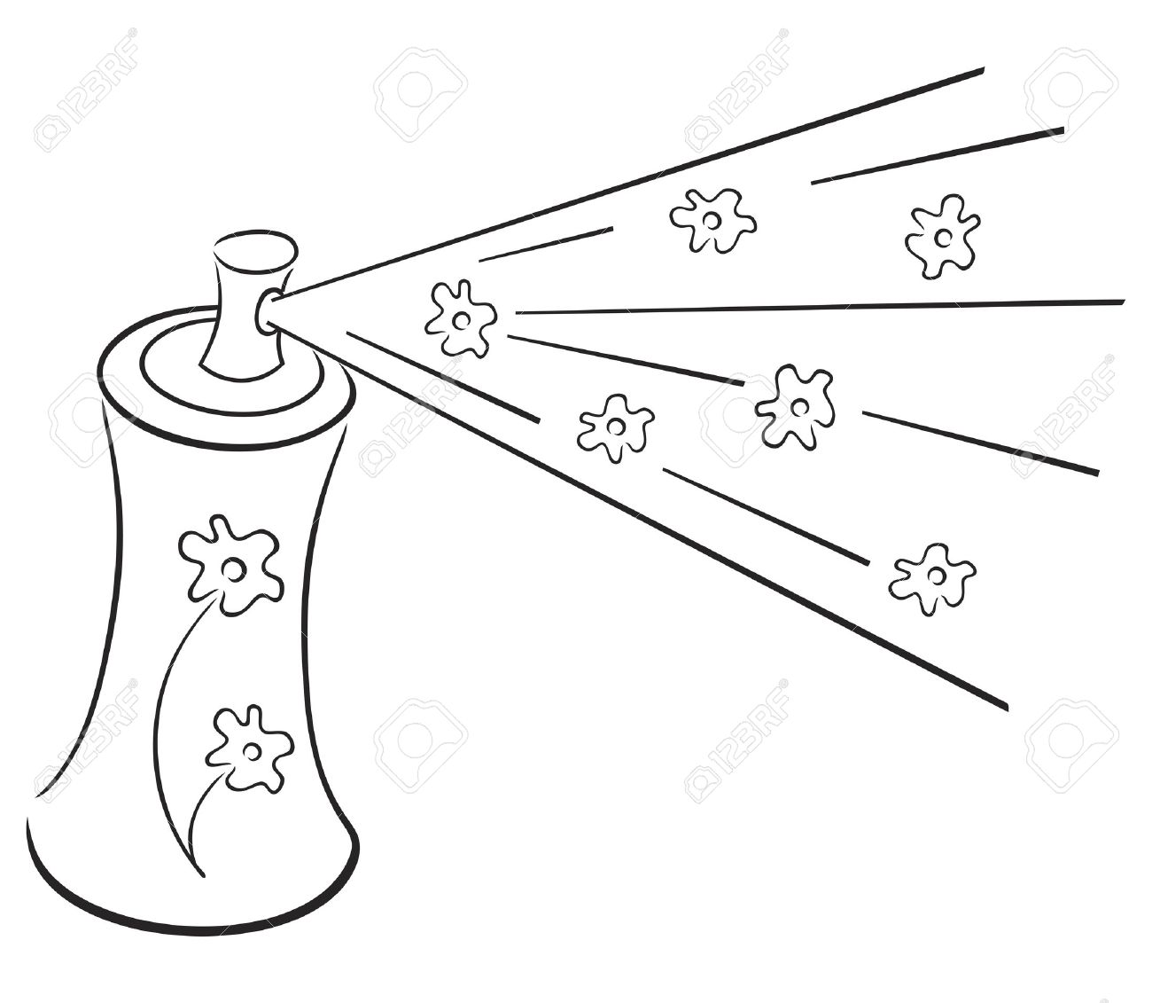 Perfume clipart black and white.