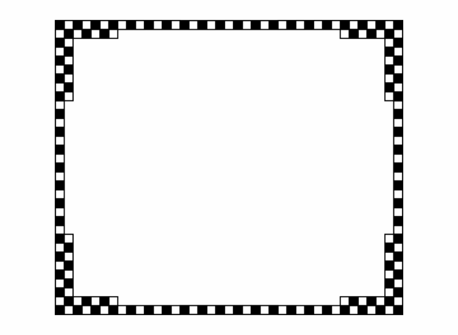 Checkered Border Png.