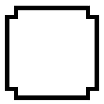 16 Black and White Square Clipart Frames.