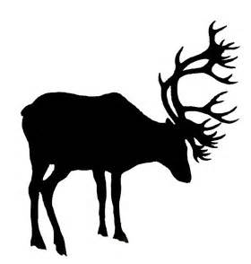 Black And White Stag Art.
