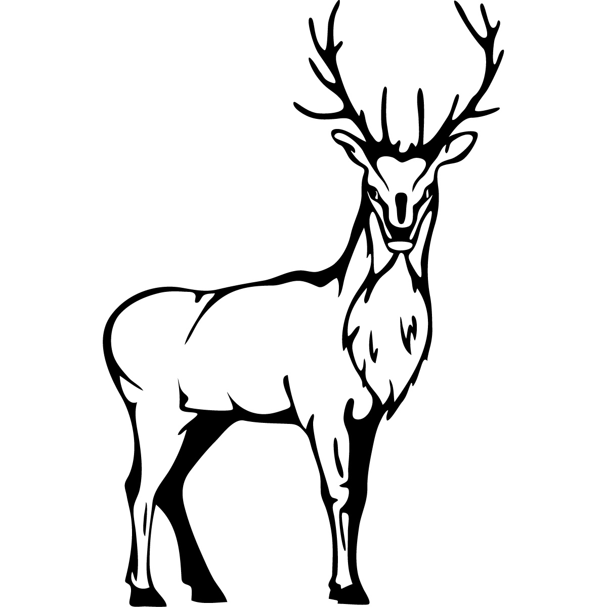 Stag Line Art.