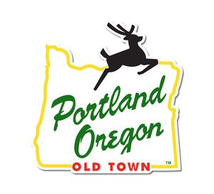 Portland Stag Sign Sticker.