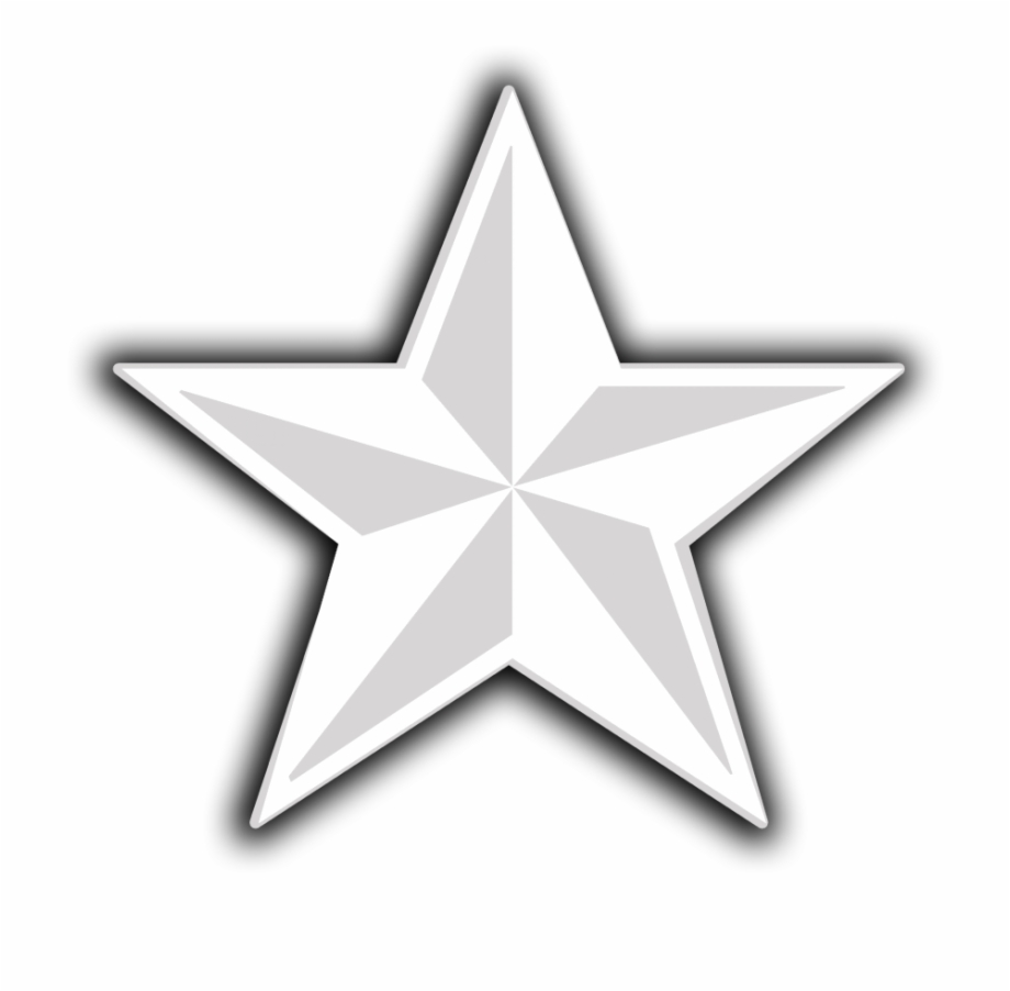 D Png Icon White Star Transparent Background.