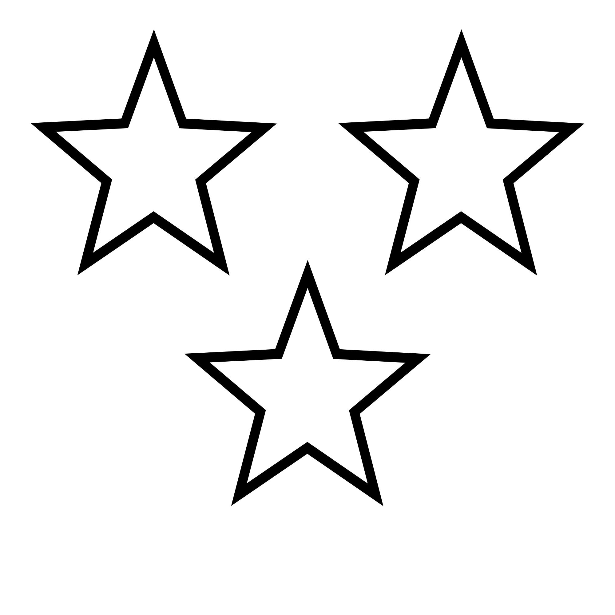 White Star Clipart Transparent Background.
