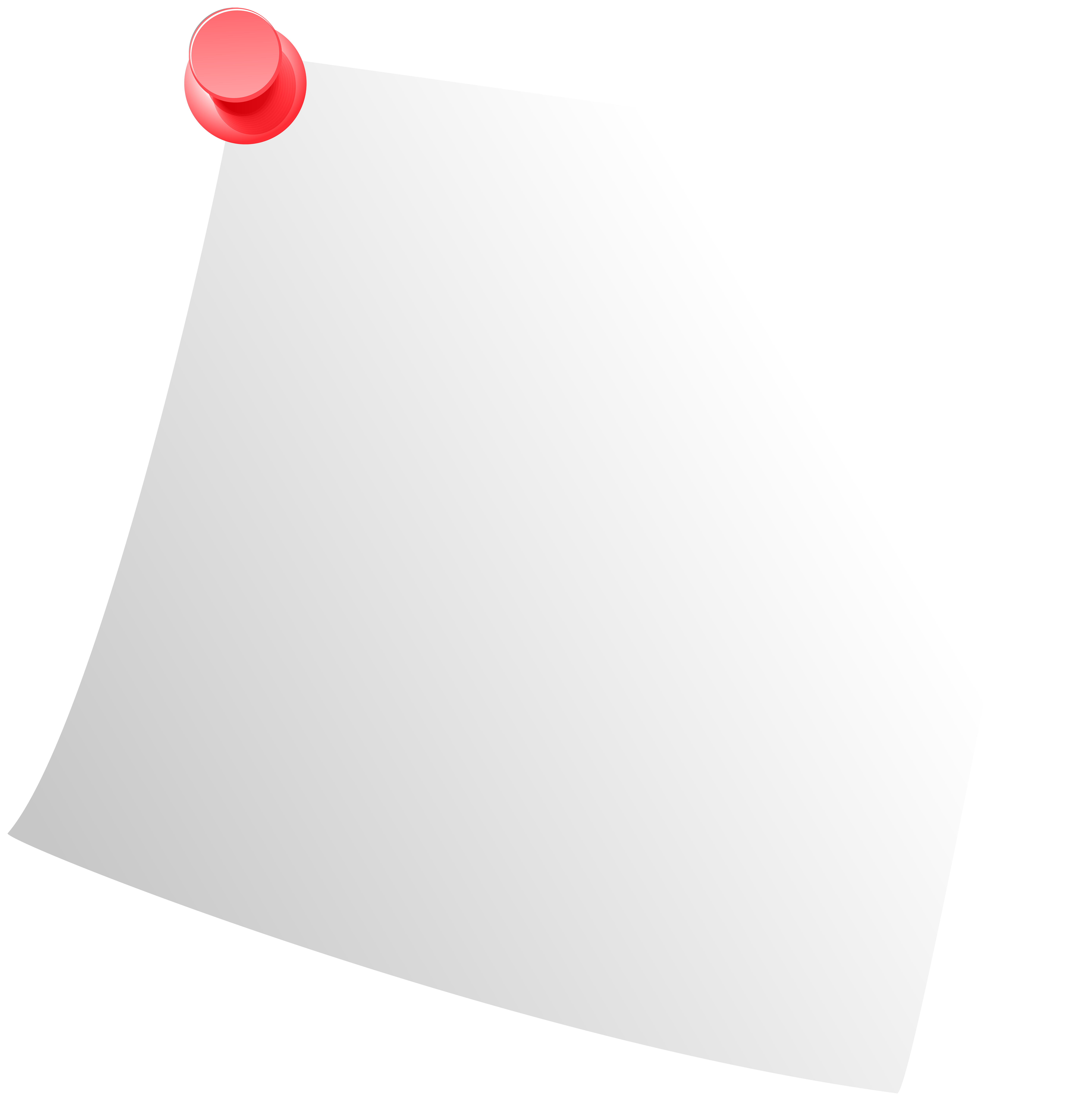 Sticky Note White PNG Clip Art.