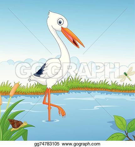 White Stork Clip Art.